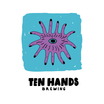 Thumb logo ten hands brewing black letters