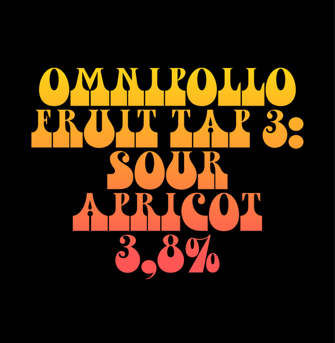 Normal fatskylt omnipollo fruit tap 3 sour apricot