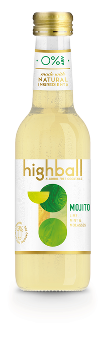 Normal highball bottle mojito